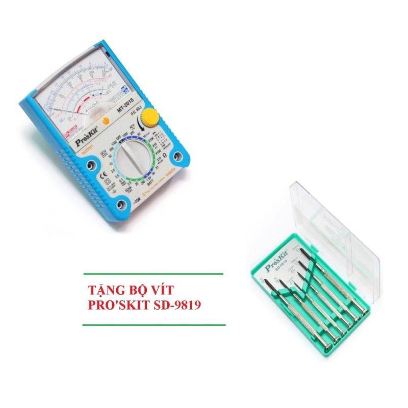 Đồng hồ đo Proskit MT-2018 + Tặng bộ vít SD-9819