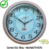 Chiết Khấu Đồng Hồ Trang Tri Correct K01 Dung Cho Nha Bếp Hồng None
