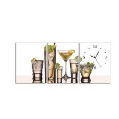 Bán Đồng Hồ Tranh Ly Cocktail Vicdecor Dht0032 50Cm X 30Cm X 9Cm X 3 Tấm Vicdecor
