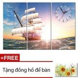 Mua Đồng Hồ Tranh Thuận Buồm Xuoi Gio Dyvina 3T3060 55 Tặng 1 Đồng Hồ Để Ban