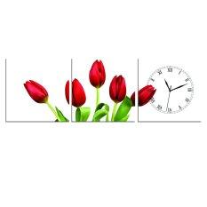 Mua Đồng Hồ Tranh Tulip Đỏ Vicdecor Dht0123 Vicdecor Nguyên