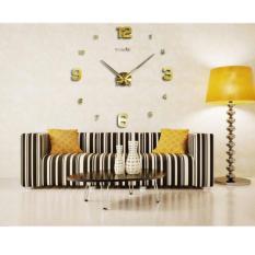 Nơi bán Đồng hồ treo tường cỡ lớn DIY 3D đường kính 120cm cho phòng khách rộng DCR-01 (Vàng)