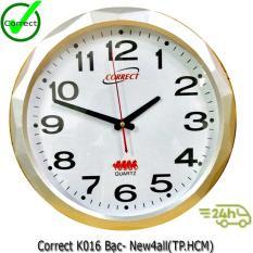 Đồng Hồ Treo Tường Correct K016 Bạc None Chiết Khấu 40