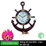Đồng hồ treo tường mỏ neo giá rẻ - mới 100% - quà tặng ý nghĩa (Màu nâu) - NPD-DHMN-4562