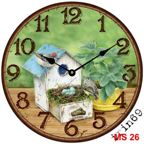 Nơi bán Đồng hồ treo tường phong cách cổ MS 26
