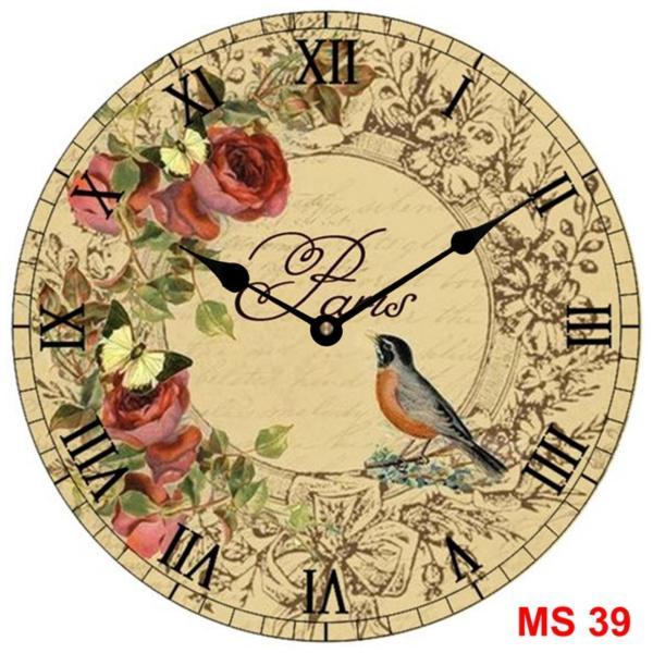 Đồng hồ treo tường phong cách cổ MS 39 bán chạy