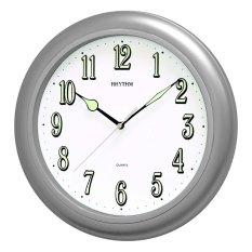 Giá Bán Đồng Hồ Treo Tường Rhythm Cmg728Nr19 Value Added Wall Clocks Bạc Mới Nhất