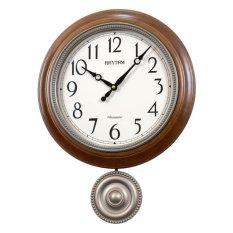 Đồng hồ treo tường Rhythm CMJ549NR06 Wooden Wall Clocks Chime (Nâu) bán chạy