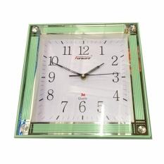 Đồng hồ treo tường Vuông Forward 30cm (Xanh lá) bán chạy