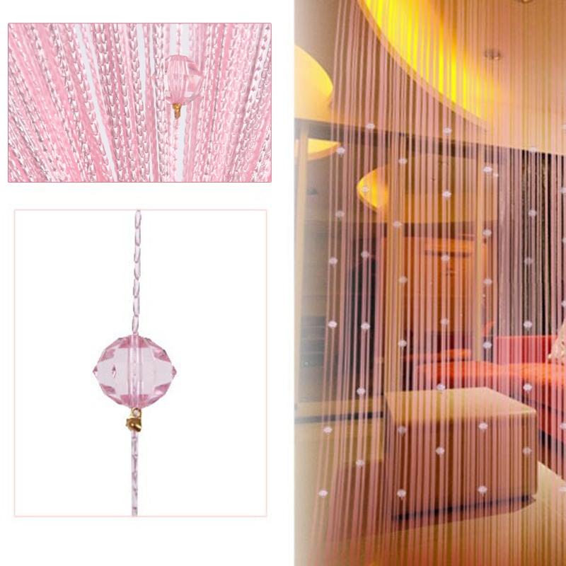 Rèm cửa chuỗi hạt Trang trí Cửa Cửa sổ (màu hồng)-quốc tế