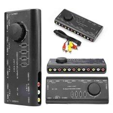 Bền 4 Vào 1 Ra Hình Ảnh Âm Thanh Tín Hiệu AV RCA Nút Chọn Switcher Bộ Chia Đen-quốc tế