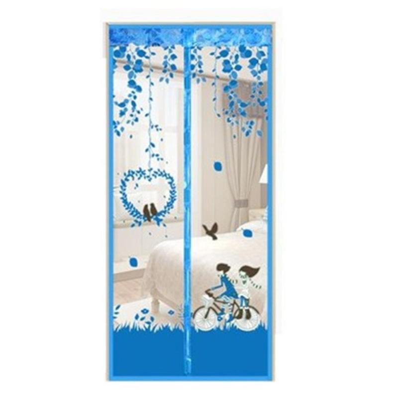 Bền Chống Muỗi Từ Voan Rèm Cửa In Lưới Rèm Cửa (Xanh Dương) -90x210 cm-quốc tế