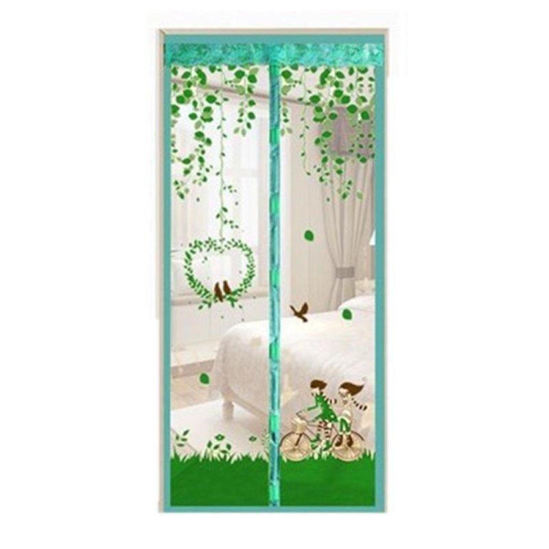 Bền Chống Muỗi Từ Voan Rèm Cửa In Lưới Rèm Cửa (Xanh) -90x210 cm-quốc tế