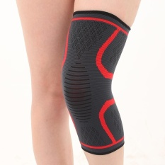 Elastic Sports Ultra Flex Athletics Recovery Compression Sleeve Wrap Knee Pad (Red)-L