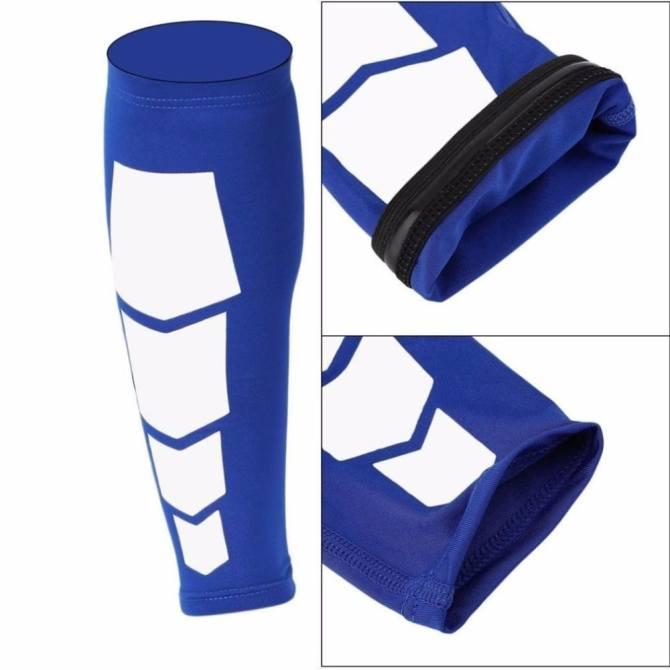 Elastic Ultra Flex Athletics Recovery Compression Sleeve Wrap Sport Leg Calf Leg Brace (Blue)