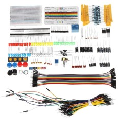Linh Kiện điện tử Căn Cứ Bộ Với Bo Mạch Điện Trở Tụ Điện ĐÈN LED Dây Nhảy Cáp Cho Arduino Có Hộp Nhựa Gói-intl