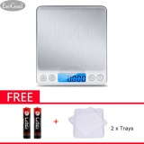 Giá Bán Esogoal Digital Kitchen Scale Pro Pocket Scales 3000G 01Oz 1G Mini Food Weight Scales With 2 Trays Electric Jewelry Scales With Back Lit Lcd Display Tare And Pcs Features Stainless Steel 2 Batteries Included Intl Esogoal Trung Quốc