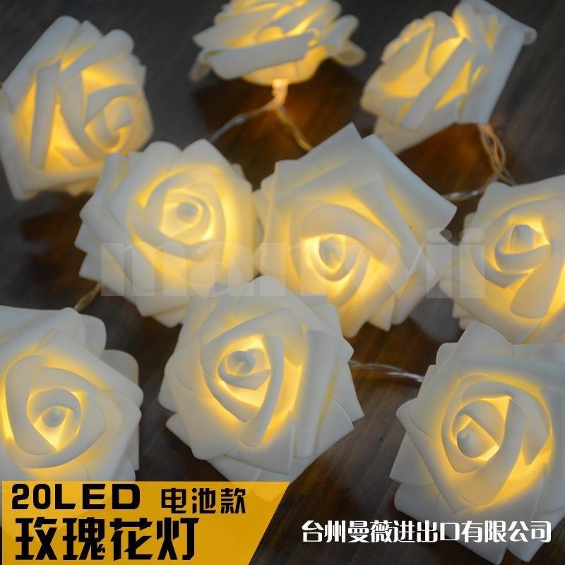 Nhà máy bán hàng trực tiếp các mô hình 20LED mô phỏng hoa hồng bầu không khí Giáng Sinh đèn cưới lễ hội đèn