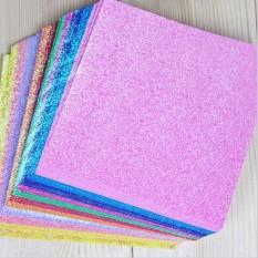 Mua Fang fang 50 cái/gói Vuông Giấy Xếp Hình Origami Màu Giấy Tờ Trẻ Em DIY LÀM Bằng Tay Thêu Sò Giấy Craft 10*10 cm- quốc tế