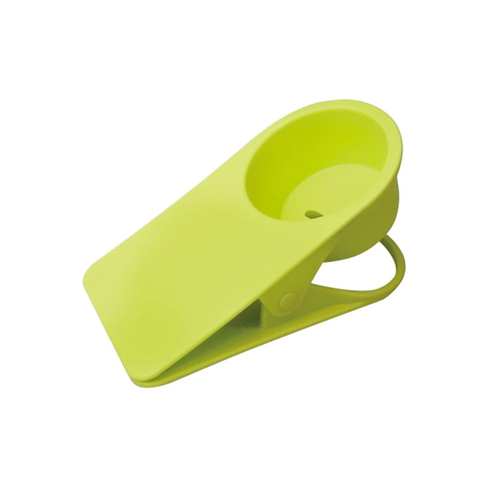 Hàng mới về Fashion Coffee Glass Drinks Cup Holder Stand Clips For Desk Table Green - intl so giá