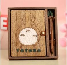Mua Fashion Cute Cartoon Totoro Planner Notebook Wooden Chinchilla Diary Book School Supplies Book Note + Pen Creative Gift - intl