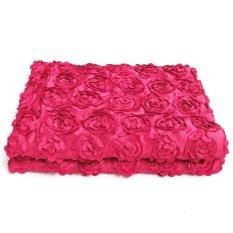 Bán Fashion Satin 3D Rose Flower Wedding Aisle Runner Marriage Decor Carpet Curtain Hot Pink Intl Oem Rẻ