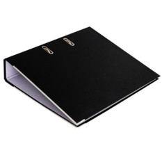 Mua File Folder Document Holder Two Holes Rings Binder with Clasp for A4 Paper Black Color:7.5