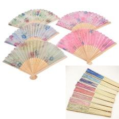 Folding Fan Chinese Elegant Silk Hand Fan Home Decoration - intl