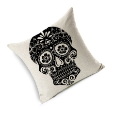 Hình ảnh GAKTAI Skull Pillows Cover Creative Minimalist Geometry Pillows Covers Decorate Sofa Cushion Case M-1 hot-sale - intl