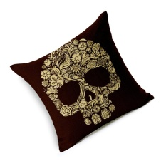 Hình ảnh GAKTAI Skull Pillows Cover Creative Minimalist Geometry Pillows Covers Decorate Sofa Cushion Case M-3 hot-sale - intl