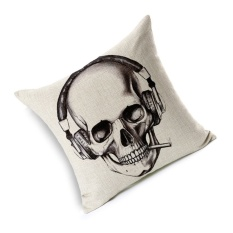 Hình ảnh GAKTAI Skull Pillows Cover Creative Minimalist Geometry Pillows Covers Decorate Sofa Cushion Case M-6 hot-sale - intl