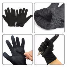 Hình ảnh Găng tay bảo vệ chống cắt đứt bằng sợi thép chống gỉ (Đen)