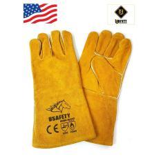Găng tay da thợ hàn Usafety - màu cam