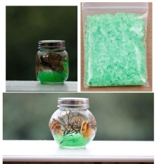 Garden Décor Coloured Sand Glassy Crystal Stones Potting Ornaments - intl