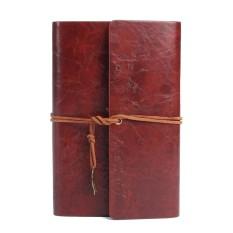 Mua Bao da chính hãng bị ràng buộc xách tay du lịch tạp chí handmade notepad xanh phong cách vintage rời lá tạp chí học tập laptop # nâu- quốc tế