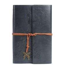Mua Bao da chính hãng bị ràng buộc xách tay du lịch tạp chí handmade notepad xanh phong cách vintage rời lá tạp chí học tập laptop # xám- quốc tế