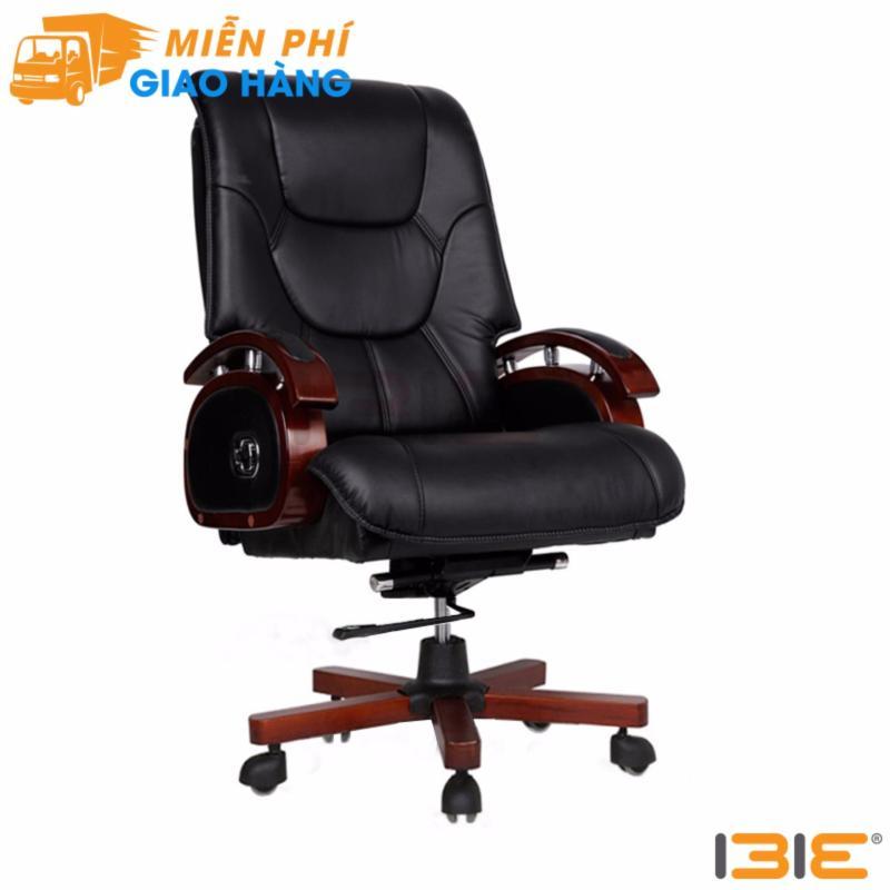 Ghế da Giám đốc IB316 chân gỗ cao cấp màu đen giá rẻ