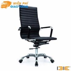Ghế da IB03GA lưng cao chân hợp kim nhôm đúc cao cấp màu đen giá rẻ
