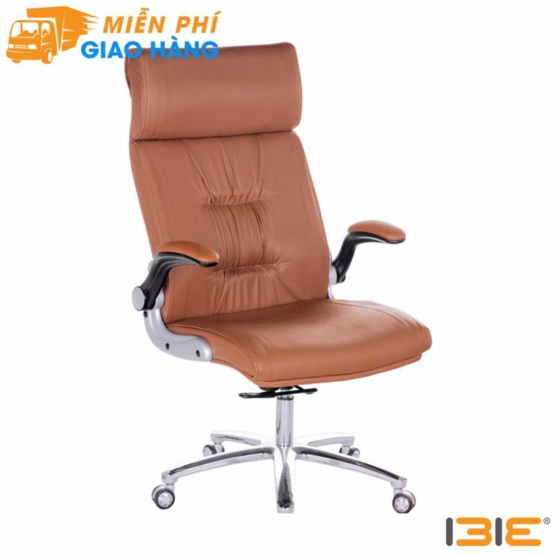 Ghế Giám đốc IB017 2 cần chân nhôm tay điều chỉnh cao thấp màu nâu giá rẻ