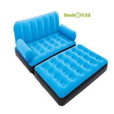 Ghế giường hơi đôi 2 in 1 (màu xanh)