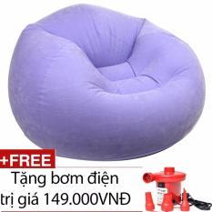 Giá Bán Rẻ Nhất Ghế Hơi Quả Đao Tim Intex 68569 Kem Bơm Điện Purple