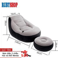 [ghế + Kê Chân] Bơm Hơi Cao Cấp Intex 68564 Rubyshop + Tặng Bơm Điện By Ruby Vietnam.