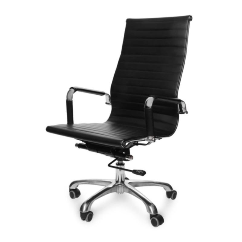 Ghế văn phòng PU nhập khẩu - Lưng Cao HC-20131-U1 (Đen) giá rẻ