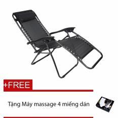 Ghế xếp thư giãn New Golden Sea - Tặng kèm máy massage 4 miếng dán