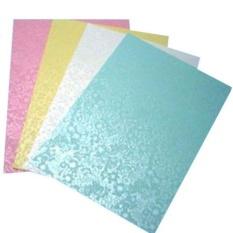 Mua Giấy bìa màu thơm a4 – có hoa văn – màu hồng
