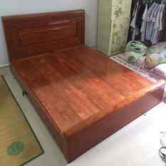 giường sồi màu dạt phản 1.8