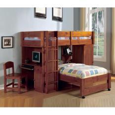 Giường tầng Hartford (màu Oak)