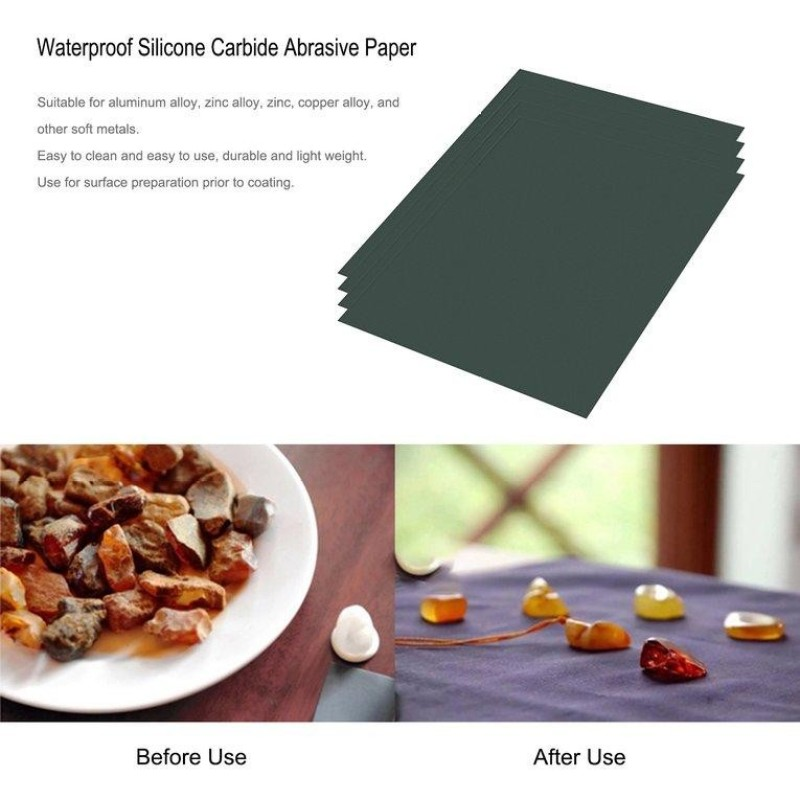 GOOD 50Sheets Waterproof Silicone Carbide Abrasive Paper Wet&Dry Usable MTCC88P - intl