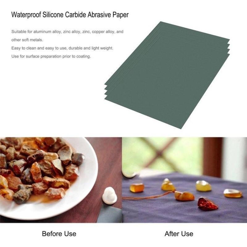 TỐT 50 Tờ Chống Thấm Nước Silicon Carbide Giấy Nhám Khô và Ướt Sử Dụng Được MTCC88P-quốc tế
