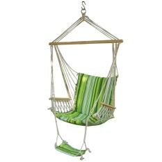 Hammock Hanging Chair Air Deluxe Sky Swing Outdoor Chair Solid Wood - intl